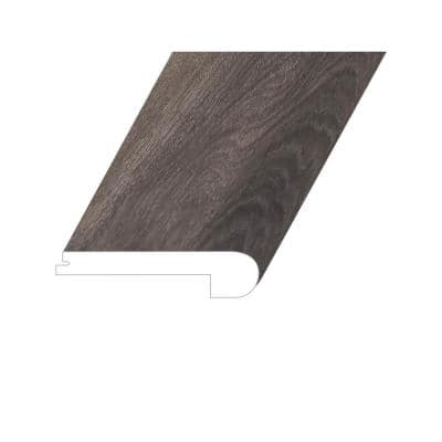 Invicta Raw Umber 1 in. Thick x 4.5 in. Wide x 94.5 in. Length Vinyl Flush Stair Nose Molding