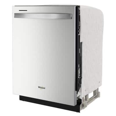 24 in. Fingerprint Resistant Stainless Steel Dishwasher with Tub and Tall Top Rack