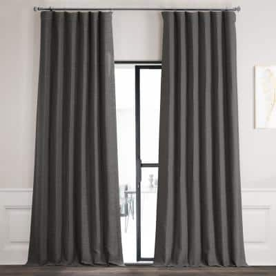 Armour Grey Rod Pocket Blackout Curtain - 50 in. W x 84 in. L
