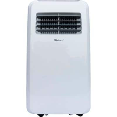 10000 BTU 6500 BTU (DOE) Portable Air Conditioner with Dehumidifier in White