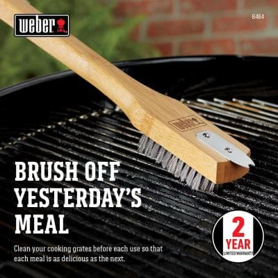 Bamboo Grill Brush with Scraper