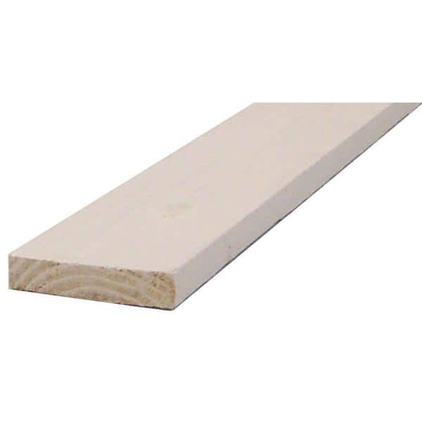 1 In X 3 In X 8 Ft White Finger Joint Square Edge Primed Pine Board 0029038 The Home Depot