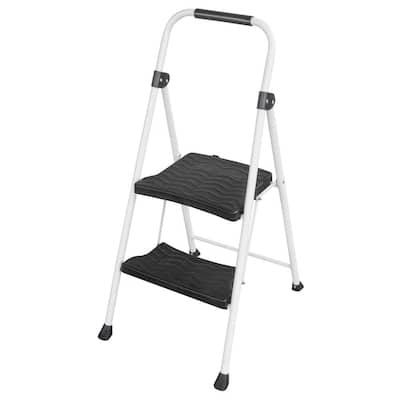 2-Step Metal Folding Utility Step Stool Ladder