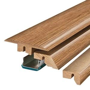 Classic Auburn Oak/Harvest Amber Oak 0.75 in. Thick x 2.37 in. Wide x 78.7 in. Length Laminate 4-in-1 Molding