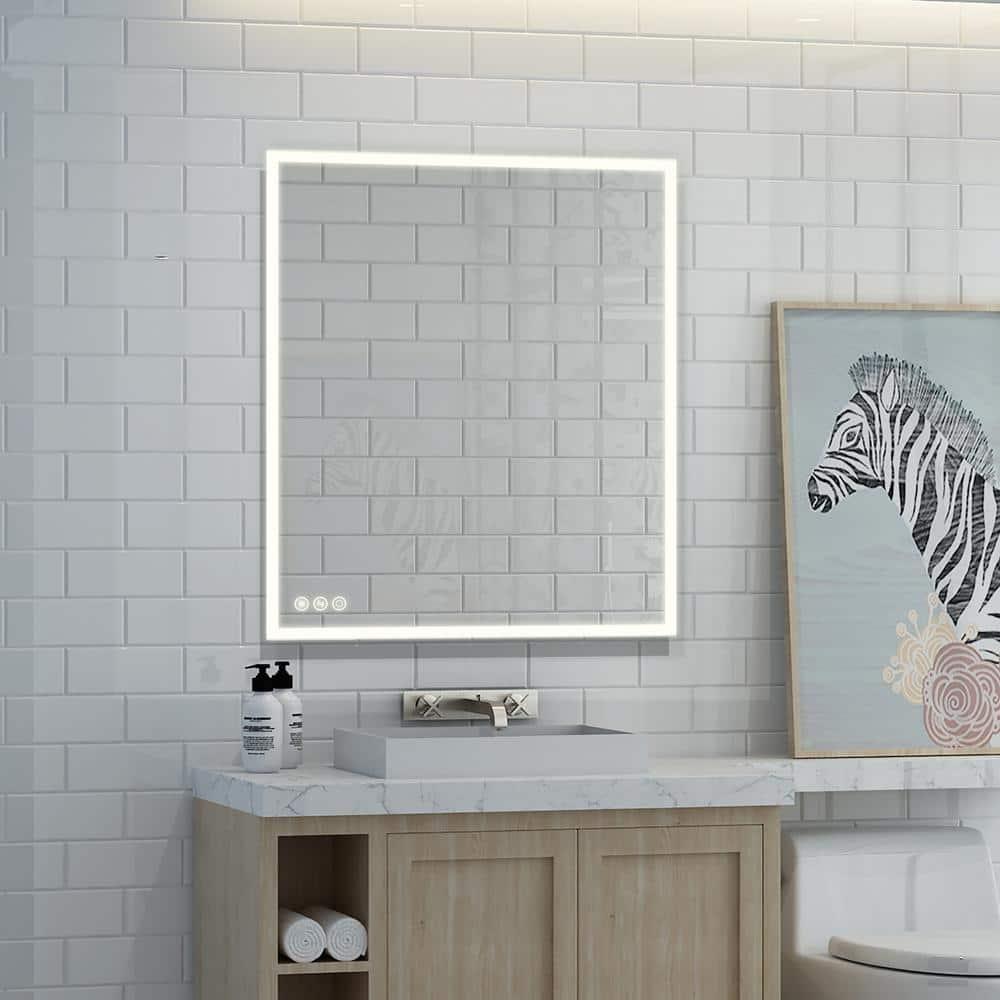 BOSTON Illuminated Led bathroom mirror Weather StationSwitchDemister