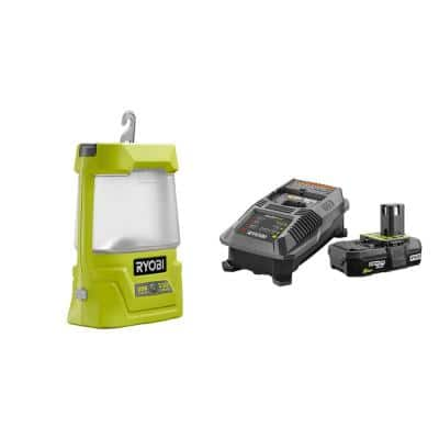 18-Volt ONE+ Cordless Area Light with USB Charger with 2.0 Ah Battery and Charger Kit