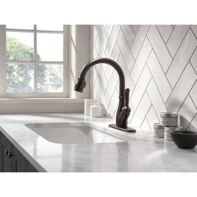 Leland Single-Handle Pull-Down Sprayer Kitchen Faucet with ShieldSpray in Venetian Bronze