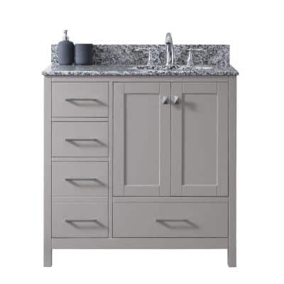 Sink On Right Side Bathroom Vanities Bath The Home Depot