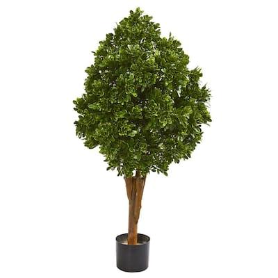 Indoor/Outdoor 41 in. Tea Leaf Artificial Tree UV Resistant
