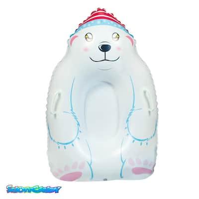 SnowCandy Polar Bear Inflatable Snow Sled