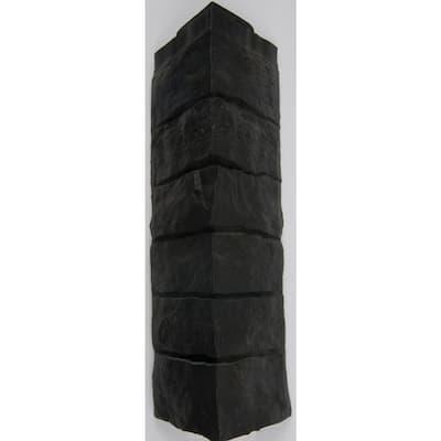 21.25 in. x 6.10 in. Stacked Stone Corner Vinyl Siding in Onyx (5-Case)