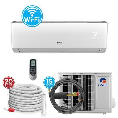 30,000 BTU Wi-Fi Programmable 2.5 Ton Ductless Mini Split Air Conditioner with Heat Kit - 230-208-Volt/60Hz