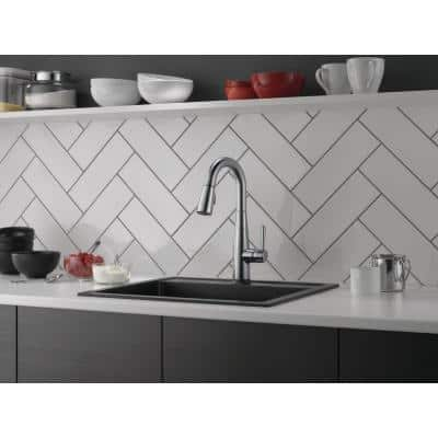Essa Touch2O Technology Single-Handle Bar Faucet in Arctic Stainless with MagnaTite Docking