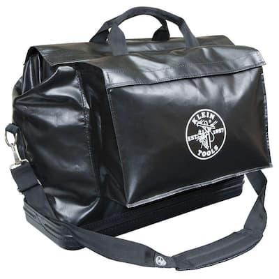 Tool Bag, Vinyl Equipment Bag, Black, Large