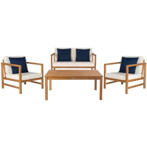 Safavieh Montez Natural Brown 4 Piece, Safavieh Patio Furniture