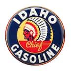 Idaho Gasoline Rustic Embossed Tin Sign