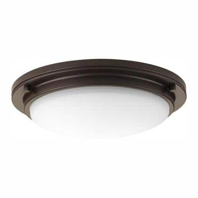 Apogee Collection 30-Watt Architectural Bronze Integrated LED Flush Mount