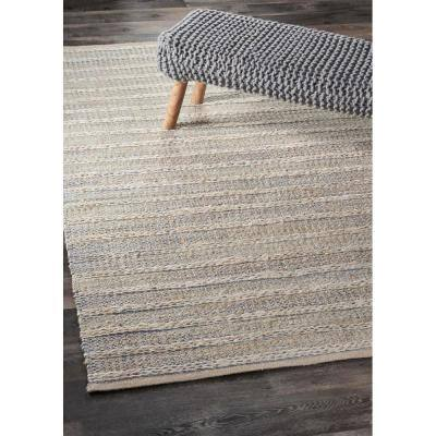 Natural Bleach Illusion Blue / Infinity Beige 9 ft. x 12 ft. Patterned Area Rug