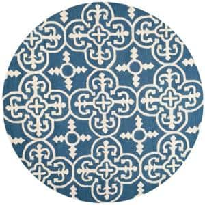 Cambridge Navy/Ivory 4 ft. x 4 ft. Round Area Rug