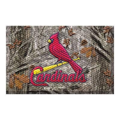 MLB - St. Louis Cardinals 19 in. x 30 in. Outdoor Camo Scraper Mat Door Mat