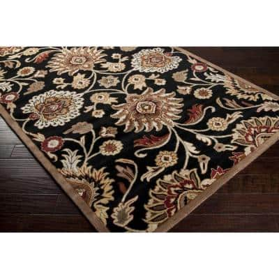 Cambrai Charcoal 2 ft. x 4 ft. Hearth Indoor Area Rug