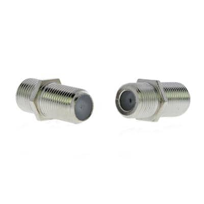 F-Series Coaxial Cable Female Adapters (2-Pack)