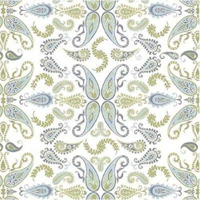 Grip Prints Abbey Blue, Sage Green and White Shelf and Drawer Liner (Set of 6)