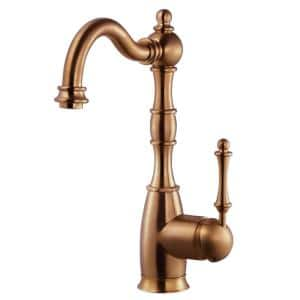 Regal Traditional Single-Handle Standard Kitchen Faucet with CeraDox Technology in Antique Copper