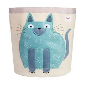 Canvas Storage Bin Laundry and Toy Basket for Baby and Toddlers Cat