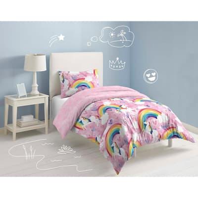 Unicorn Rainbow Comforter Set