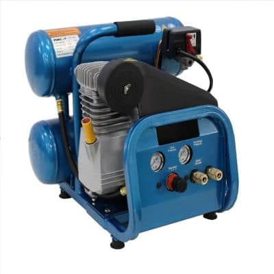 4 Gal. 1.5 HP Electric Direct Drive Single Stage Twin Stack Hand Carry Air Compressor