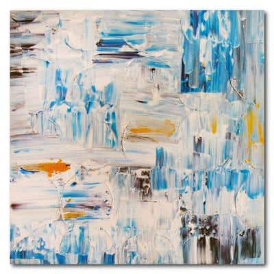 Beginnings Gallery-Wrapped Canvas Abstract Wall Art 16 in. x 16 in.
