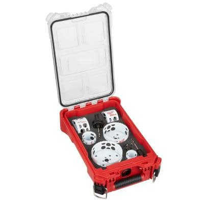 Hole Dozer Bi-Metal General Purpose Hole Saw Set with PACKOUT Compact Organizer (10-Piece)
