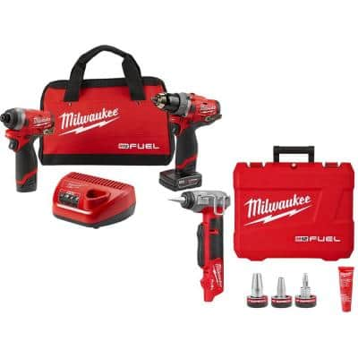 M12 FUEL 12-Volt Cordless Hammer Drill & Impact Driver Combo Kit with ProPEX Expander w/ 1/2 in. to 1 in. Expander Heads