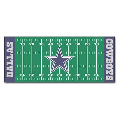 Dallas Cowboys 3 ft. x 6 ft. Football Field Rug Runner Rug