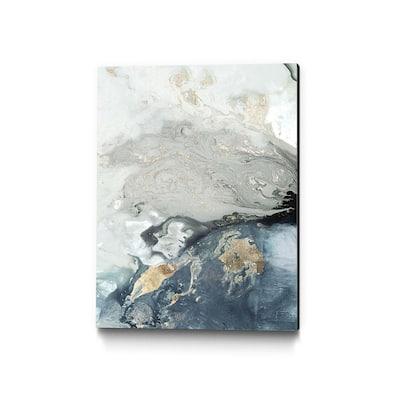 """Ocean Splash I Indigo Version"" by PI Studio Abstract Wall Art 40 in. x 30 in."