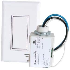 Simple Wireless Light Switch Kit, No-Wires and Battery-Free Light Switches for Home (1 Receiver and 1 Light Switch)