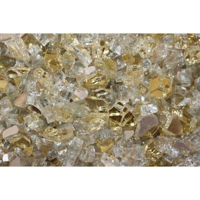 20 lbs. Gold Reflective Fire Glass