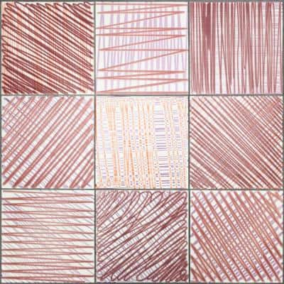 Evermore 8 in. x 8 in. x 8mm Berry Patterned Ceramic Wall Tile (30 pieces / 12.91 sq. ft. / case)