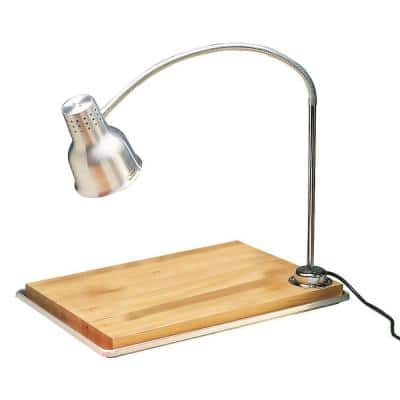 39 in. H Heat Lamp Single Arm in Aluminum Finish with Included Pan and Board