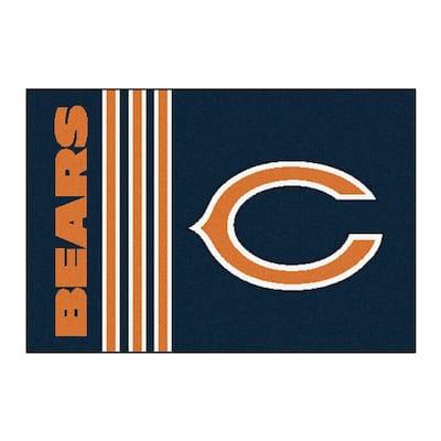 NFL Chicago Bears Uniform Inspired Navy Blue 2 ft. x 3 ft. Area Rug