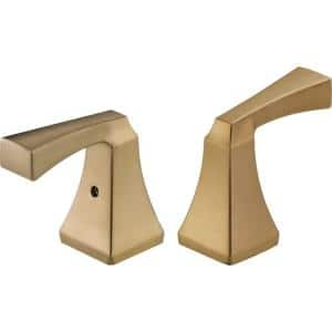 Dryden Lever Handles in Champagne Bronze for Bathroom Faucets