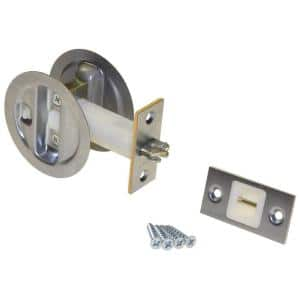 Brushed Nickel Pocket Door Privacy Lock