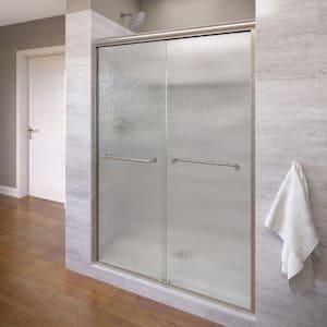 Infinity 58-1/2 in. x 70 in. Semi-Frameless Bypass Shower Door in Brushed Nickel