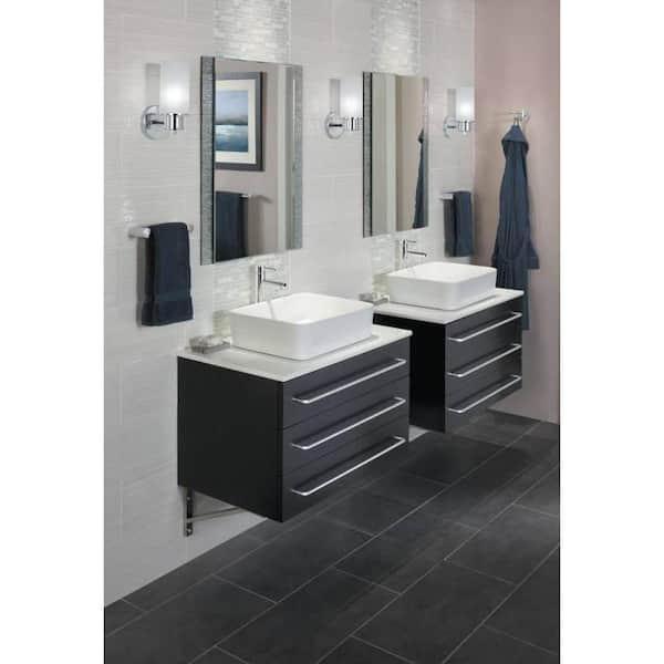 "Moen YB8124NLBL 24/"" Towel Bar Chrome Nickel//Matte Black New Asceri Coll."