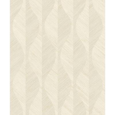 Oresome Cream Ogee Wallpaper Sample
