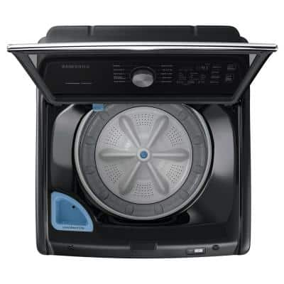 27 in. 4.5 cu. ft. High Efficiency Brushed Black Top Load Washing Machine with Active Waterjet