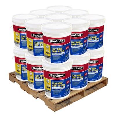 5 Gal. Flat Roof Coat-n-Seal Liquid Rubber Coating (18-Pallet)