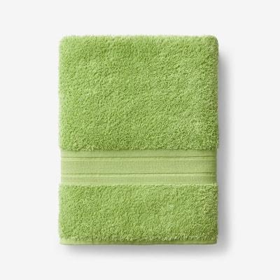Company Cotton Field Green Solid Turkish Cotton Bath Towel
