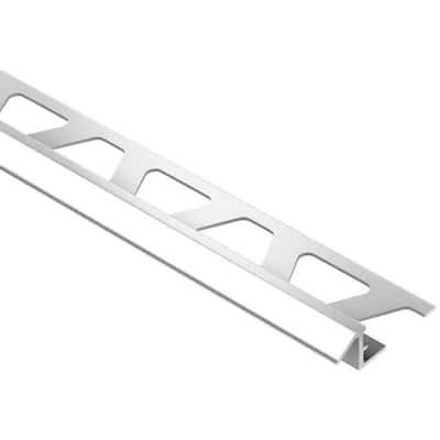 Reno-TK Bright Chrome Anodized Aluminum 5/16 in. x 8 ft. 2-1/2 in. Metal Reducer Tile Edging Trim